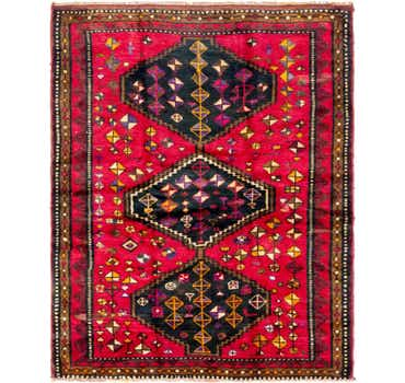 Image of 5' x 6' 3 Shiraz Persian Rug
