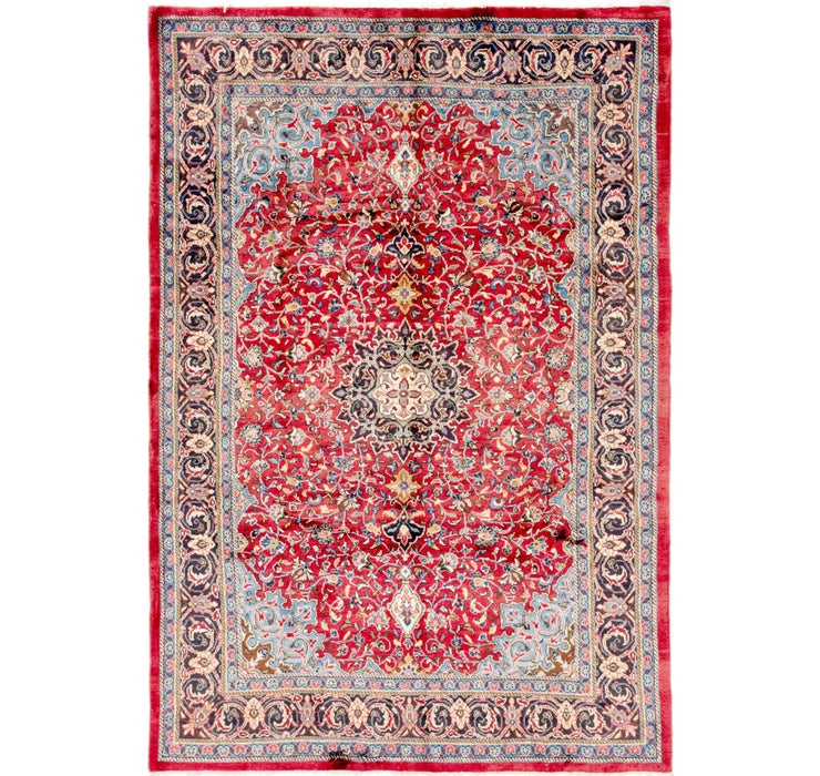 Image of 213cm x 312cm Sharough Persian Rug