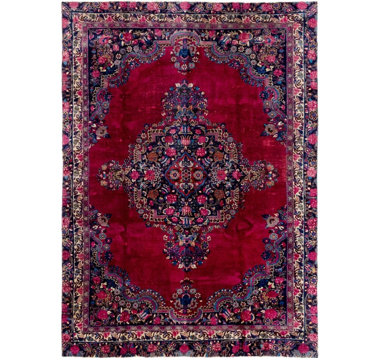 7' x 9' 10 Mashad Persian Rug