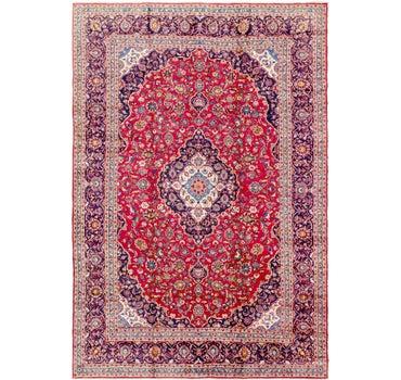 9' 6 x 13' 8 Kashan Persian Rug