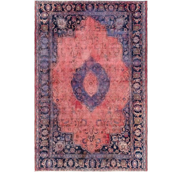7' x 10' 9 Mashad Persian Rug