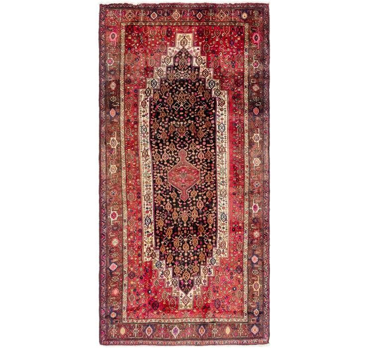Image of 147cm x 305cm Senneh Persian Runner Rug