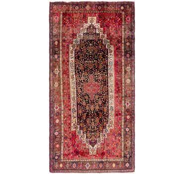 Image of 4' 10 x 10' Senneh Persian Runner Rug