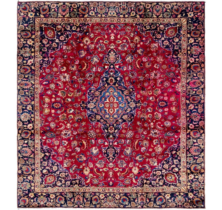 8' 10 x 9' 7 Mashad Persian Rug