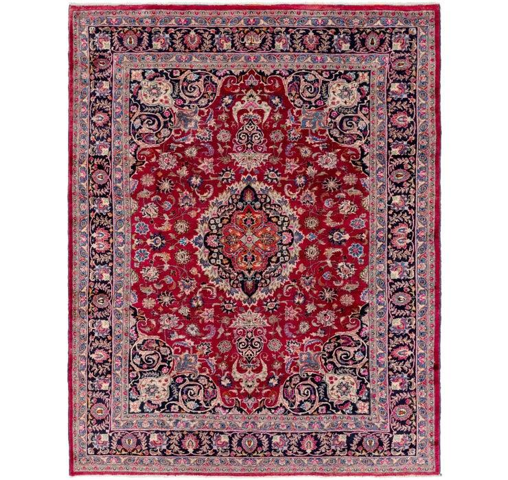 262cm x 340cm Mashad Persian Rug