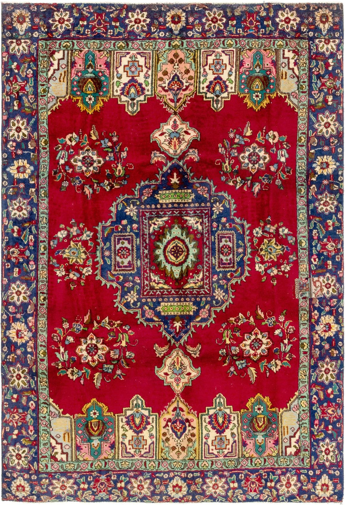 6' 5 x 9' 6 Tabriz Persian Rug main image