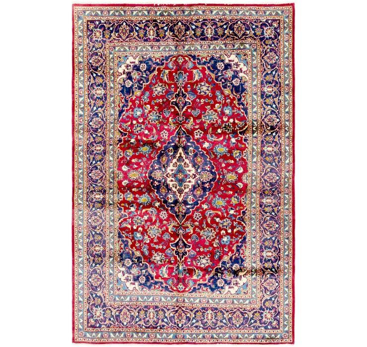 6' 3 x 9' 7 Kashan Persian Rug