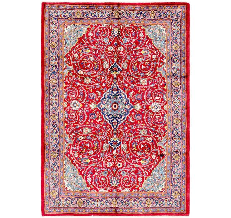 7' x 10' 4 Mahal Persian Rug