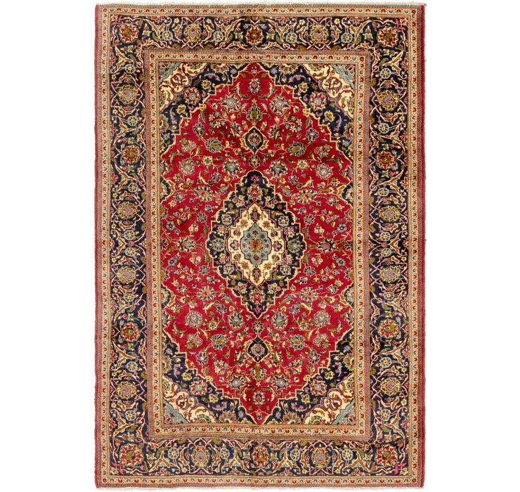 6' 7 x 10' Mashad Persian Rug