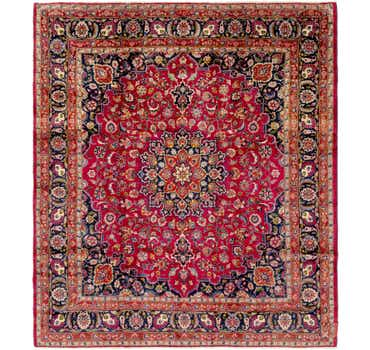 Image of 9' 8 x 10' 10 Mashad Persian Square Rug