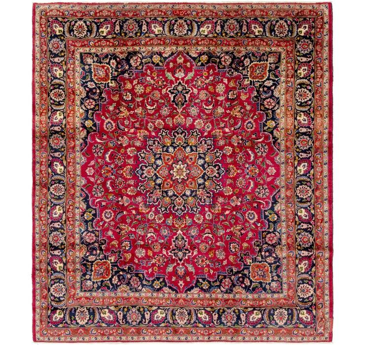 9' 8 x 10' 10 Mashad Persian Square Rug