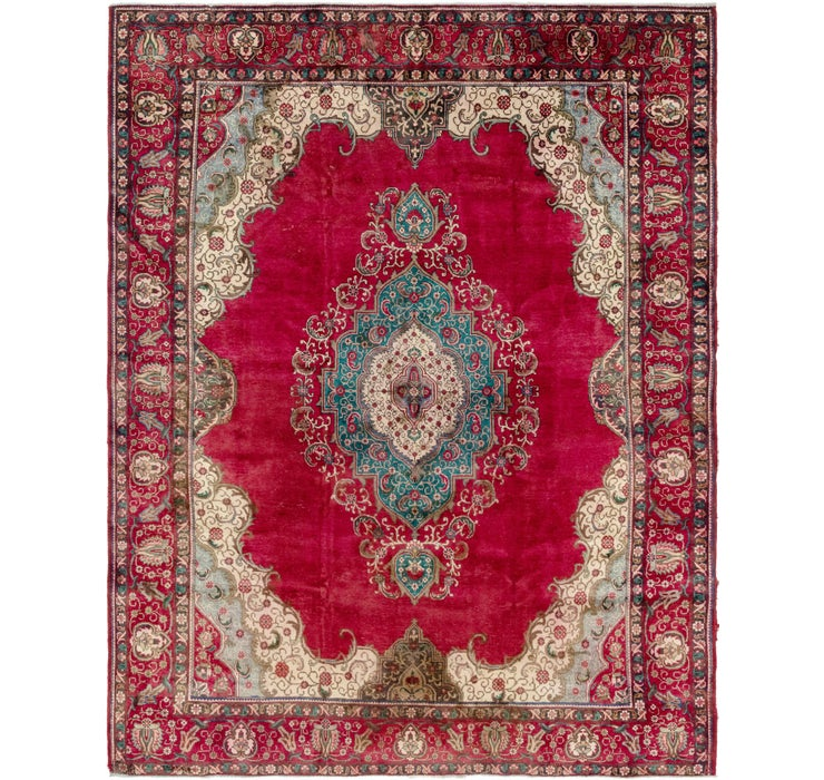 9' 10 x 12' 6 Tabriz Persian Rug