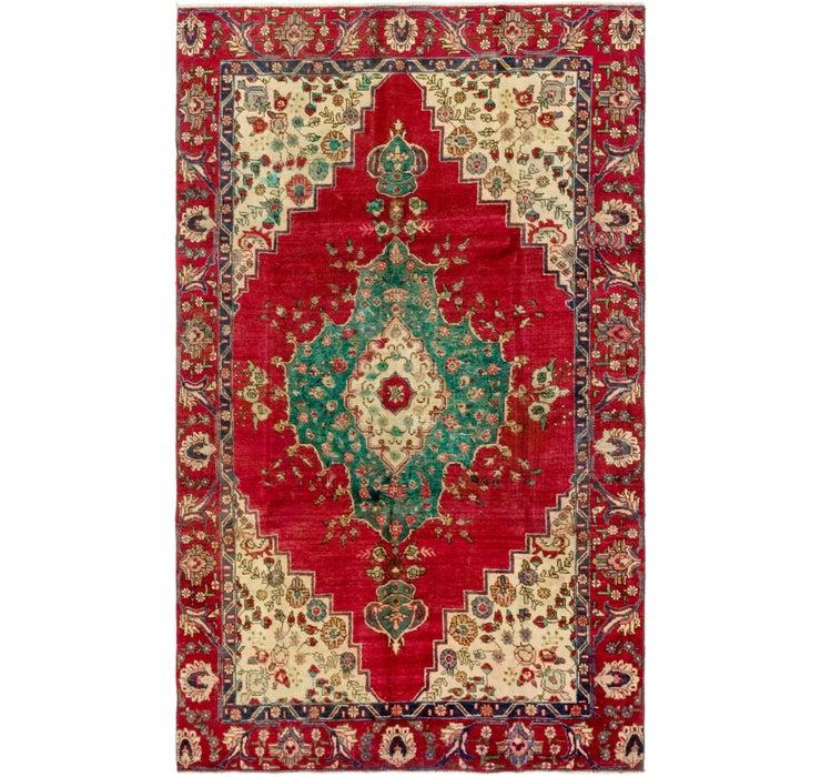 5' 8 x 9' 4 Tabriz Persian Rug