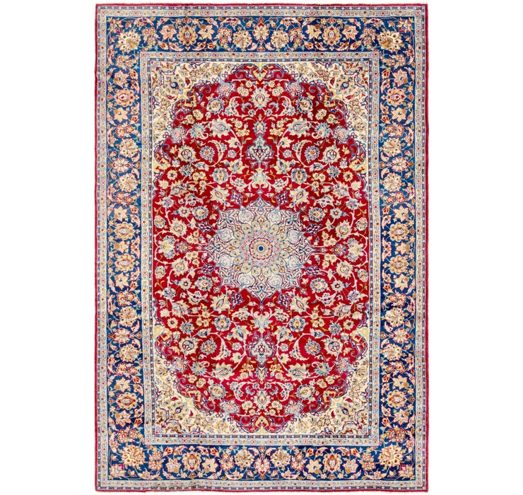 270cm x 395cm Isfahan Persian Rug