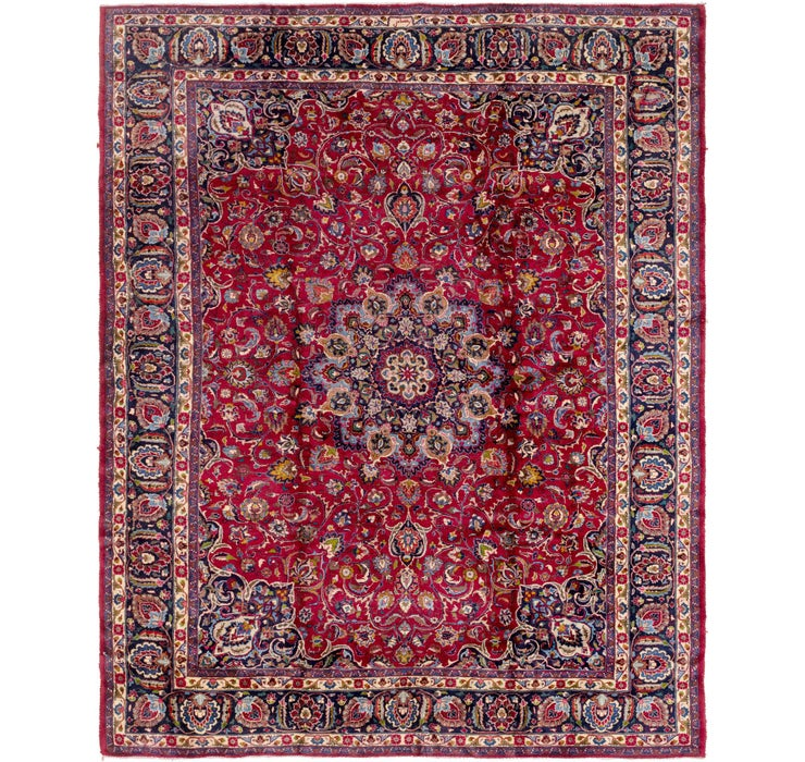 295cm x 365cm Mashad Persian Rug