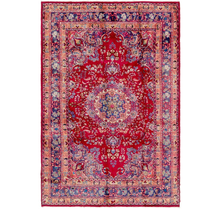 6' 3 x 9' 9 Mashad Persian Rug