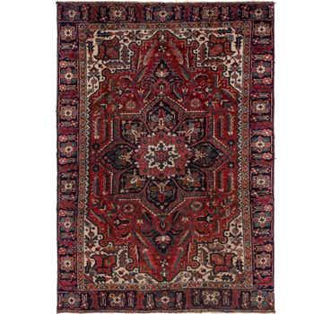Image of 7' 7 x 10' 9 Heriz Persian Rug