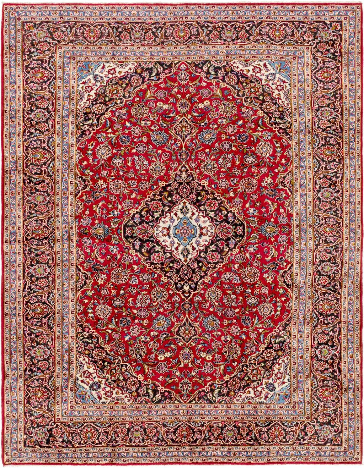 9' 9 x 13' Kashan Persian Rug main image