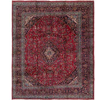 Image of 9' 7 x 11' 7 Mashad Persian Rug