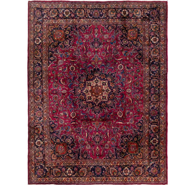 297cm x 375cm Mashad Persian Rug