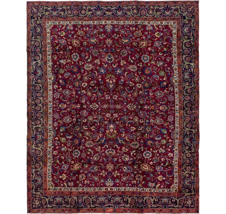 330cm x 400cm Mashad Persian Rug