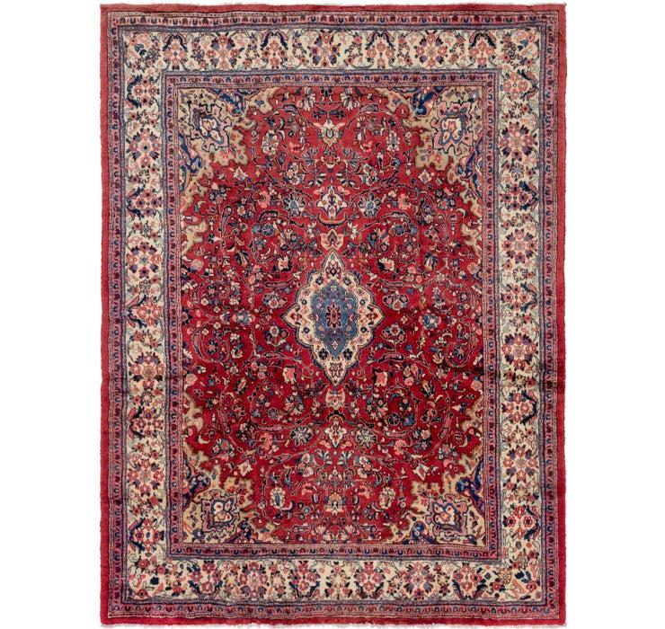 270cm x 370cm Meshkabad Persian Rug
