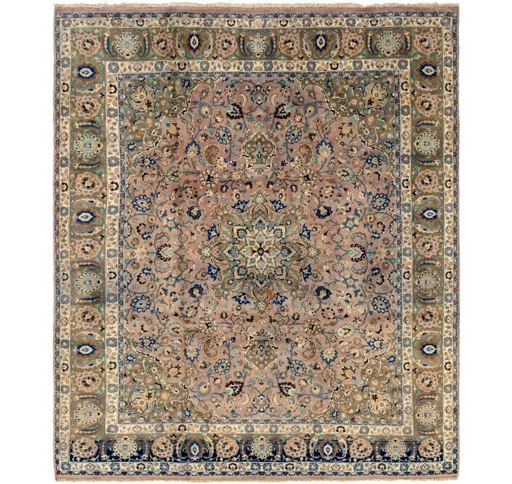 305cm x 358cm Mashad Persian Rug