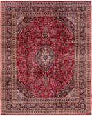 9' 9 x 12' 2 Mashad Persian Rug thumbnail