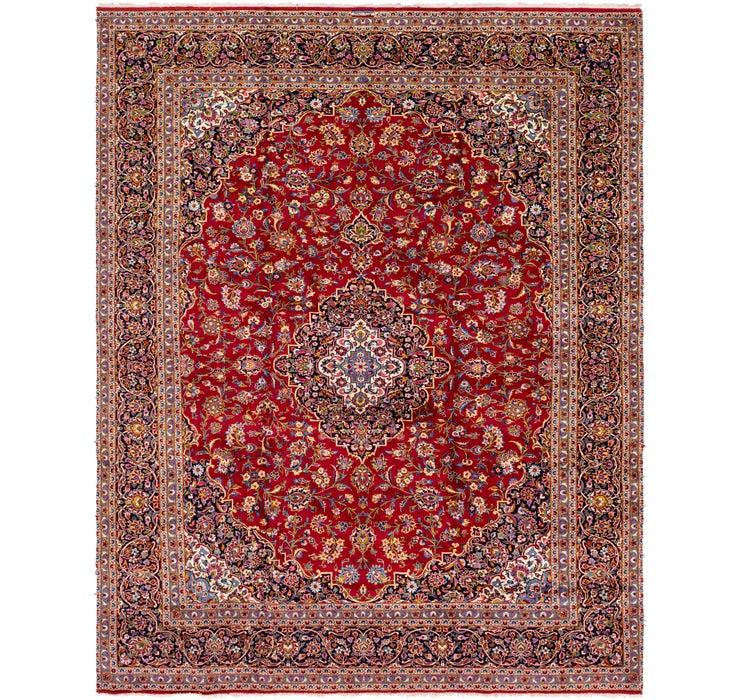 10' x 12' 8 Kashan Persian Rug
