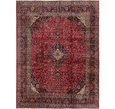 Image of 9' 9 x 12' 2 Mashad Persian Rug