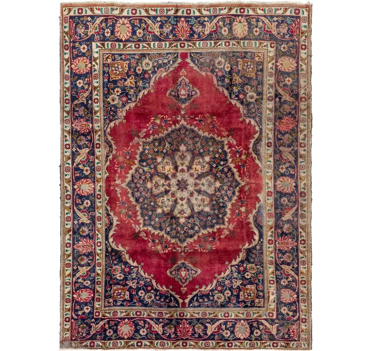 6' 7 x 9' 4 Tabriz Persian Rug