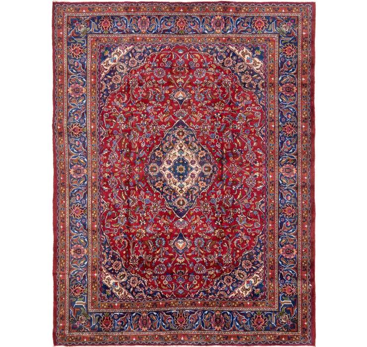 Image of 9' 5 x 12' 6 Mashad Persian Rug