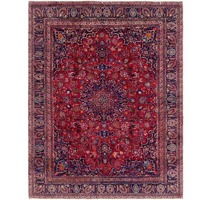280cm x 370cm Mashad Persian Rug