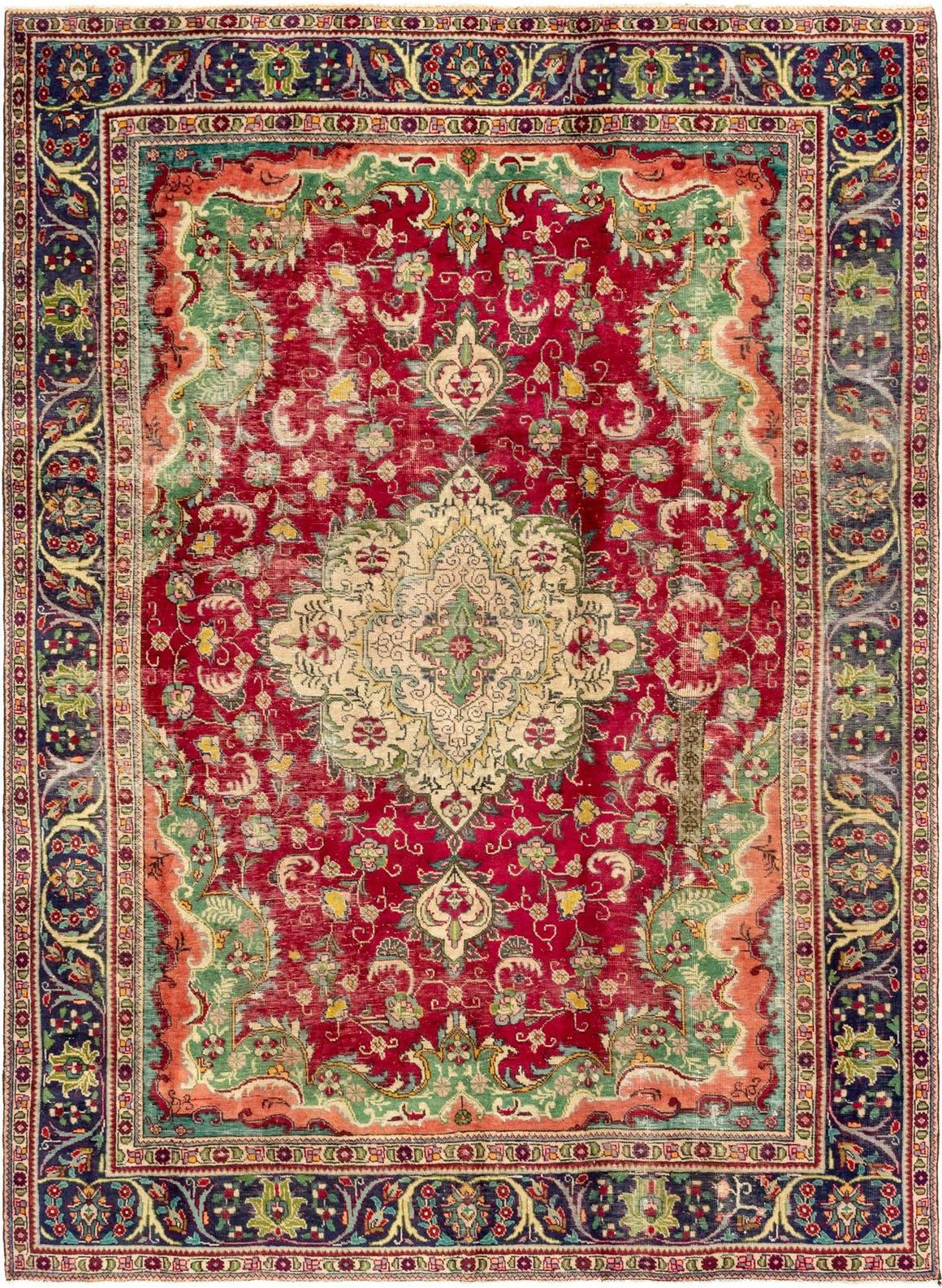 7' 2 x 10' 8 Tabriz Persian Rug main image