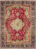 7' 2 x 10' 8 Tabriz Persian Rug thumbnail