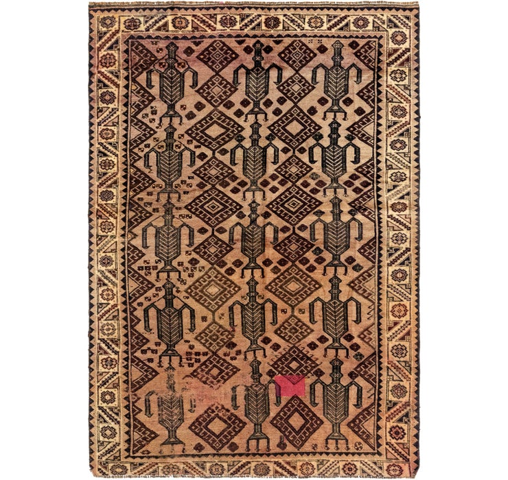 6' 2 x 9' Shiraz Persian Rug