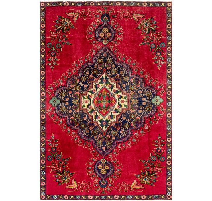 7' x 10' 6 Tabriz Persian Rug