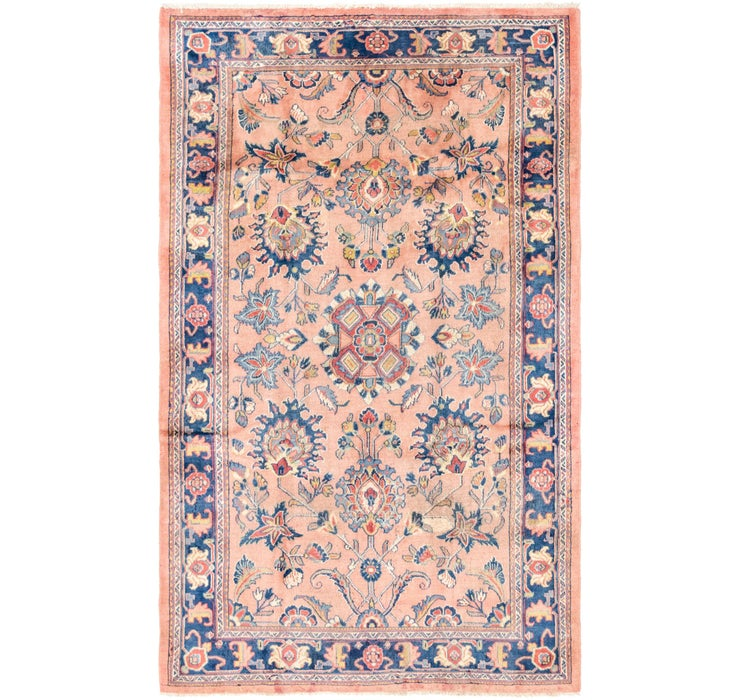 163cm x 262cm Sarough Persian Rug