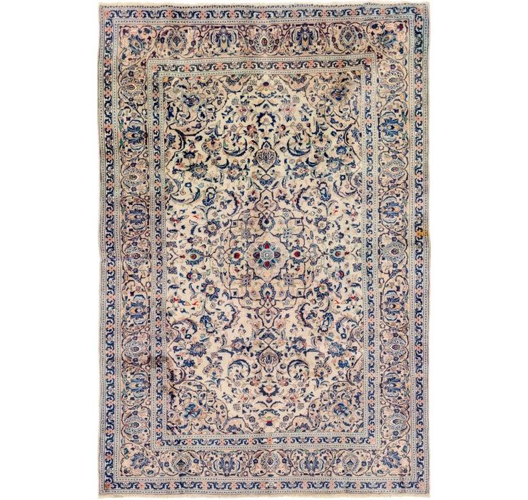 6' 5 x 9' 6 Kashan Persian Rug