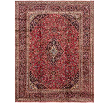Image of 9' 6 x 12' 7 Mashad Persian Rug