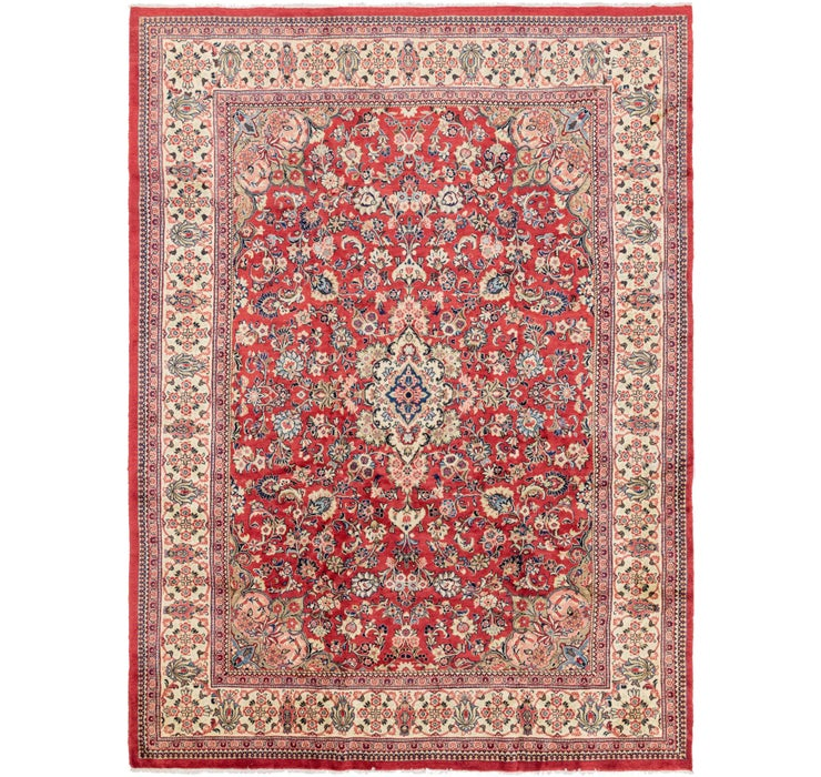 287cm x 395cm Meshkabad Persian Rug