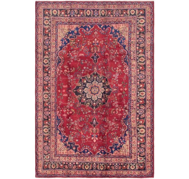 190cm x 295cm Mashad Persian Rug