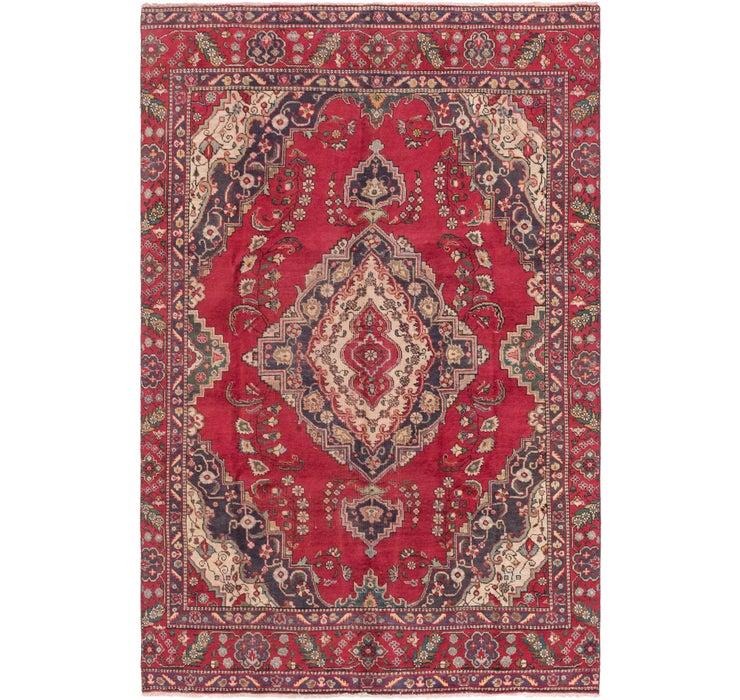 6' 10 x 11' Tabriz Persian Rug