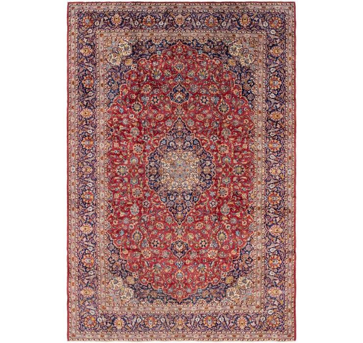 9' 3 x 13' 9 Kashan Persian Rug