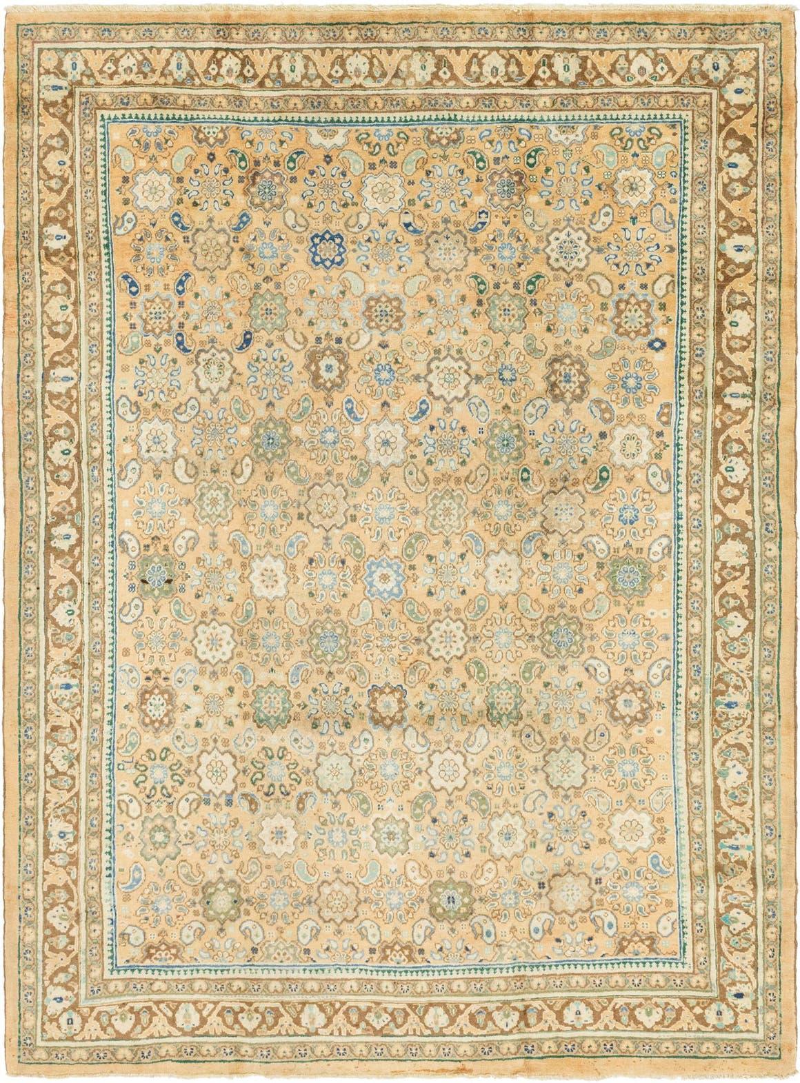 Gold 8 9 X 11 6 Farahan Persian Rug