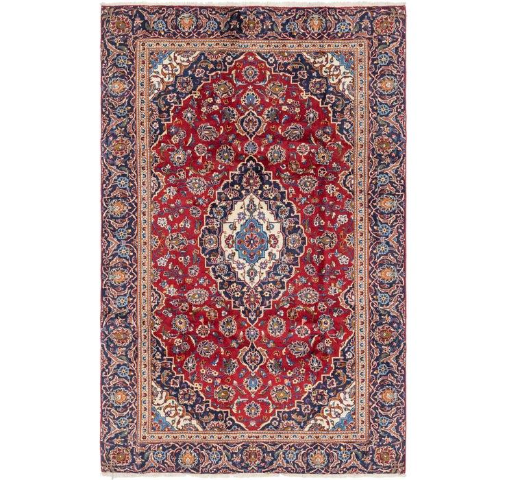 6' x 9' 2 Kashan Persian Rug