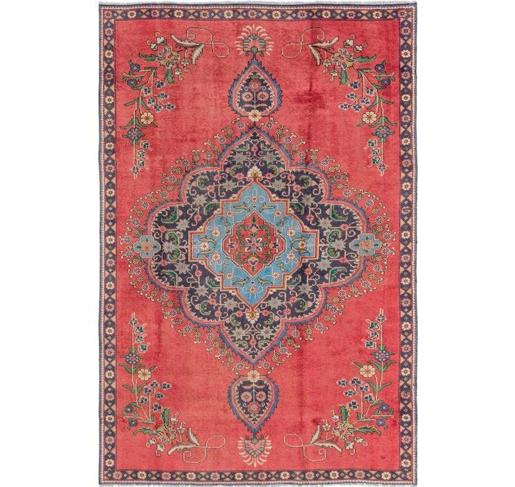 7' x 10' 9 Tabriz Persian Rug