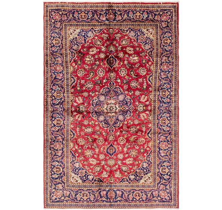 193cm x 290cm Kashan Persian Rug