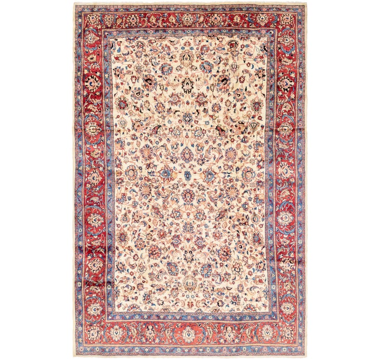 9' x 14' 8 Sarough Persian Rug