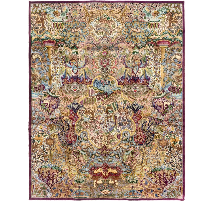 Image of 9' 9 x 12' 7 Kashmar Persian Rug